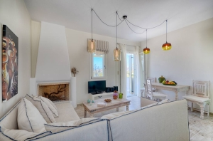 Living & Kitchen Room, Aerides Villas Naxos island sea view vacation homes